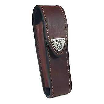 Victorinox belt pouch - 2-4 layer Lock blade swiss army knife - BROWN leather