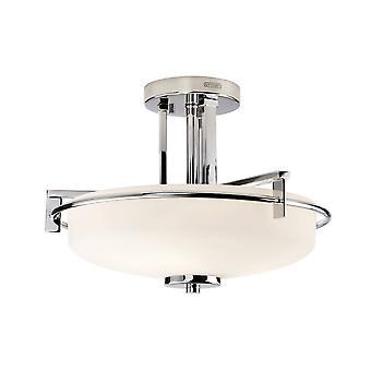 3 Light Semi Flush Light - Polished Chrome Finish, G9