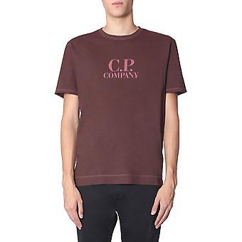 C.p. Compañía 07cmts124a005546g576 Hombres's Camiseta de algodón borgoña