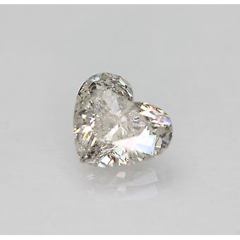 معتمد 1.22 قيراط G لون SI2 شكل القلب الطبيعية فضفاضة الماس 7.74x6.8mm