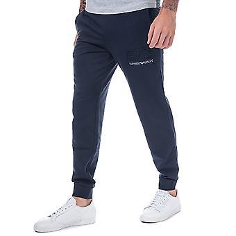 Ea7 men's navy blue tracksuit jog pants