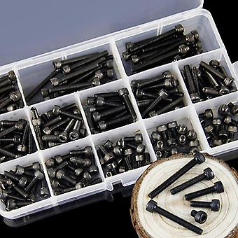 260 Pcs Steel Hexagon Socket Head Cap, Metric Bike Screw