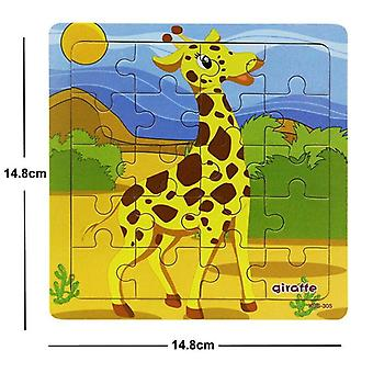 38 Style Educational Wooden Puzzle - Animal/ Vehicle Toy For Kids
