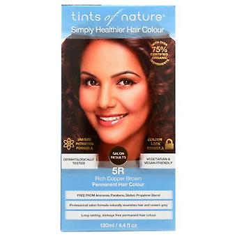 Tints of Nature Permanent Hair Color, 5R Rich Copper Brown 4.4 Oz