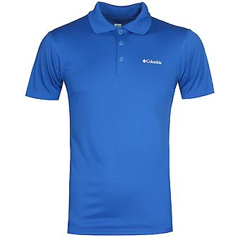 Columbia Zero Rules Dunkelblau Kurzarm Polo Shirt