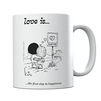 Love Is The First Step To Happiness Mug