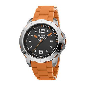 Ferre Milano Men's FM1G107M0021 Black Dial Orange Rubber Date Wristwatch
