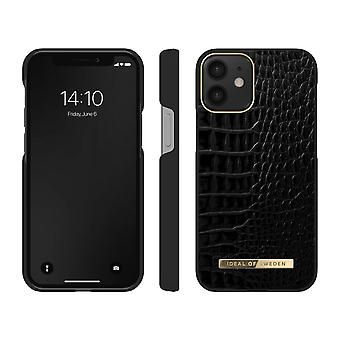 iDeal Of Sweden iPhone 12 Mini Kuori - Nightfall Croco