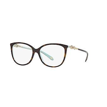 Tiffany TF2143B 8134 Havana on Tiffany Blue Glasses
