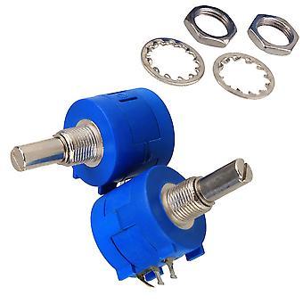 2x 100 Ohm 3590S-2-101L Precizie Wirewound Rotary Potentiometru Pot 10 Turn