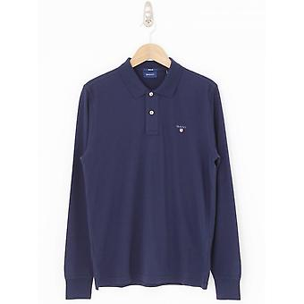 GANT Long Sleeve Rugger Polo - Navy