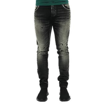 Balmain  Selvedge Slim Jeans-Vi Black UH15230Z0090PA Pants