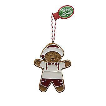 Figura de pan de jengibre SHINY BOY colgante de árbol de Navidad