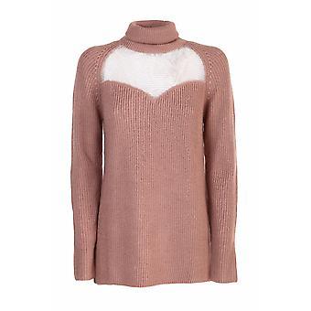 Elisabetta Franchi Mk60s06e2145 Women's Brown Wool Sweater