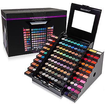CONJUNTO DE MAQUIAGEM SHANY Elevated Essentials - Kit de maquiagem all-in-one com 72 sombras, 28 cores labiais, 18 delineadores de gel, 10 blushes, 1 eye primer, e 1 Cream Concealer