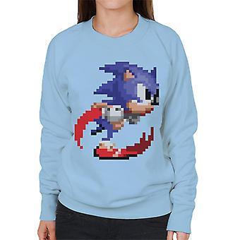Sonic der Igel Pixelated Beschleunigen Frauen's Sweatshirt
