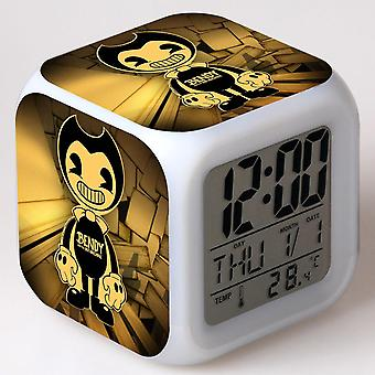 Colorful Multifunctional LED Children's Alarm Clock -Bendy e a máquina de tinta