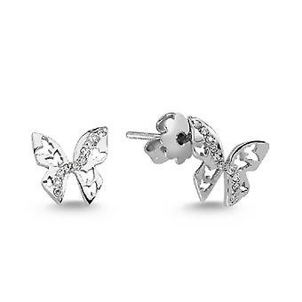 Charlotte Butterfly Diamond Pendiente