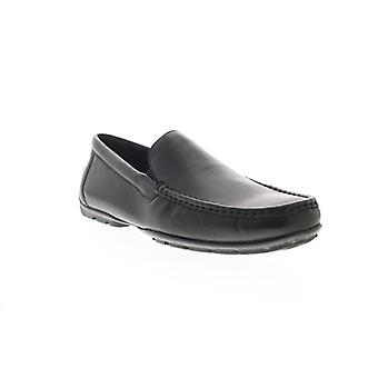 Geox U Moner C Herren schwarz Leder Loafers & Slip Ons Mokassin Schuhe