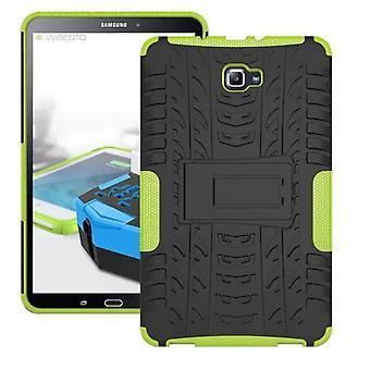 Caso de tampa protetora exterior híbrido verde para Samsung Galaxy tab A 10.1 T580 / 2016 T585 saco