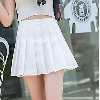 Women Pleated Tennis Skirt With Inner Shorts School Uniforms Dance High Waist