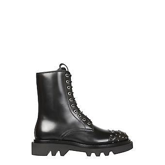 Givenchy Bh6027h0kf001 Heren's Black Leather Enkellaarsjes