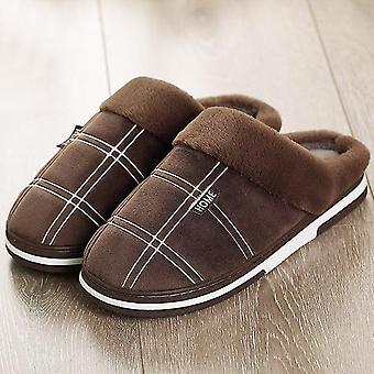 Férfi papucs téli nagy gingham meleg papucs cipő