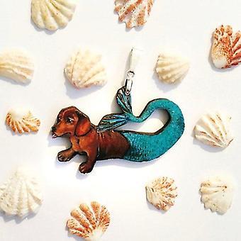 Dackel Meerjungfrau Anhänger Halskette
