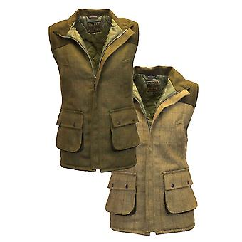 Walker and Hawkes - Mens Tweed Shooting Gilet With Shoulder Patch