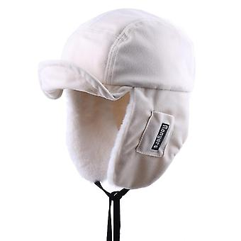 Winter Bomber Hats Plush Earflap Russian With Goggles Men Women's Trapper