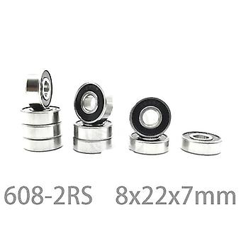 Black Double Rubber Sealing Cover, Deep Groove Ball Bearing