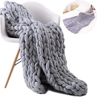 Coperta spessa a maglia Filato di lana gettare coperta divano
