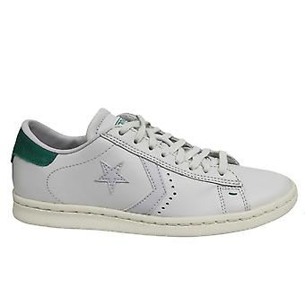 Converse Pro Leather LP Ox White Green Low Lace Up Mens Trainers 148556C