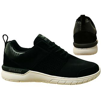 Supra Scissor Black White Lace Up Leather Mens Running Trainers 08027 024 B0B