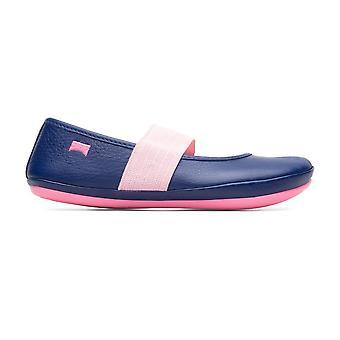CAMPER Ballet Pump Lederen Schoen Marine Blauw & Roze