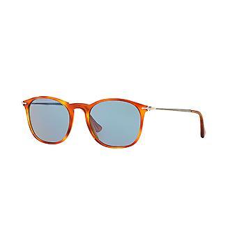 Persol PO3124S 96/56 Havana/Crystal Orange Silver Mirror Sunglasses