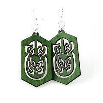 Keltische rechthoek oorbellen