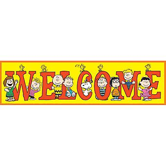 Striscione di benvenuto peanuts
