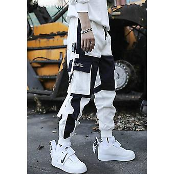 Men's Multi Pockets Cargo Harem Pants, Hip Hop Casual Male Track Joggers