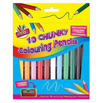 Artbox 1/2 velikost robustní barvicí tužka (balení 10) 1084