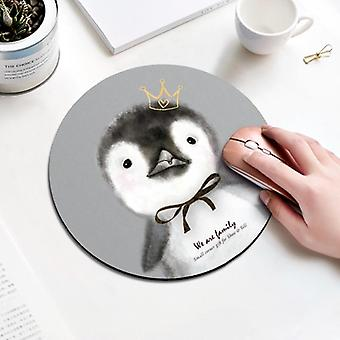 Mouse Padding Rubber Thickening, Cartoon Round Animal Penguin Mouse Pad