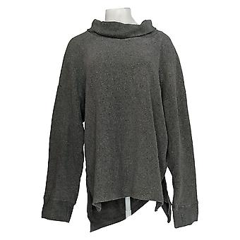 Cuddl Duds Mujeres's Plus Fleecewear Stretch High Neck Tunic Gray A293095