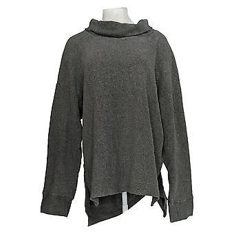 Cuddl Duds Women's Plus Fleecewear Stretch High Neck Tunic Gray A293095