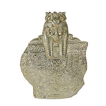 "Ceramic 14"" Table Top Sculpture, Gold"