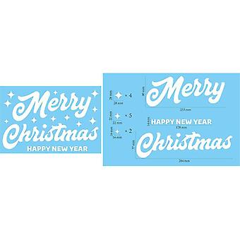 Christmas Refrigerator Stickers Snowflake Wall Glass Decal