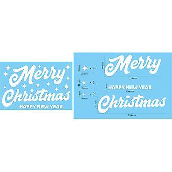 Autocollants de réfrigérateur de Noël Décalcomanies de verre de mur de flocon de neige