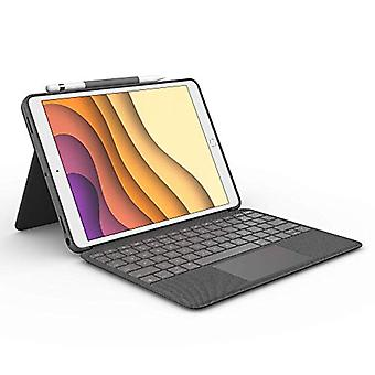 Logitech Combo Touch pour iPad Air (3ème génération) et iPad Pro 10.5-inch Keyboard case avec trackpad, Wireless Keyboard, and Smart Connector Technology - Graphite