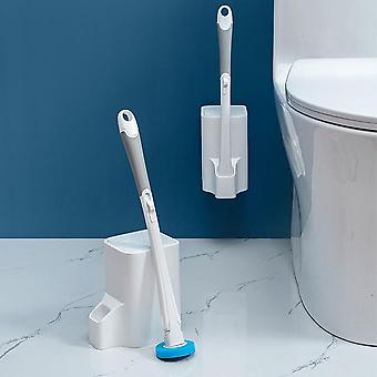 10pcs Toilet Cleaning Replaceable Disposable Sponge Brush Set