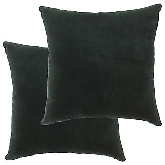vidaXL Cuscino Cotone Velluto 2 pezzi. 45×45 cm verde