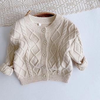 Children's Knit Cardigan  Autumn's Plain Diamond Cardigan Toddler Sweater